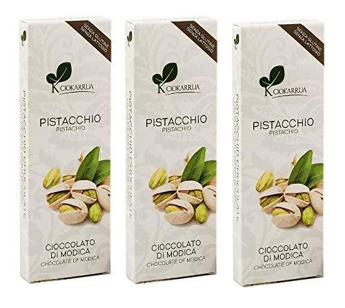 Ciokarrua Cioccolato Pistacchio / Pistachio Chocolate of Modica - 3 x 100 Gram