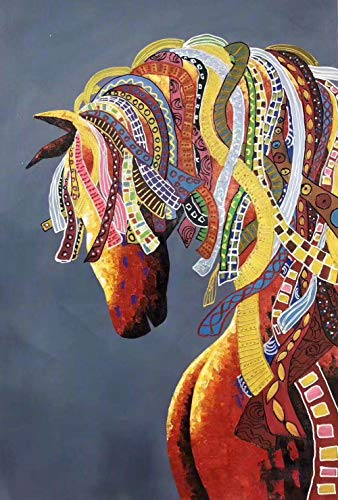 UBEN Pintado a Mano de Pintura al oleo, Corredor Pintura Sala Restaurante Moderno Minimalista Pintura Pintura Abstracta Hecha 100% a Mano de Pintura al óleo, de Orden Privado. 6cm * 90 cm sin Marco