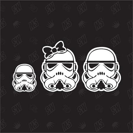 Star Wars Family With 1 Boy Sticker Auto
