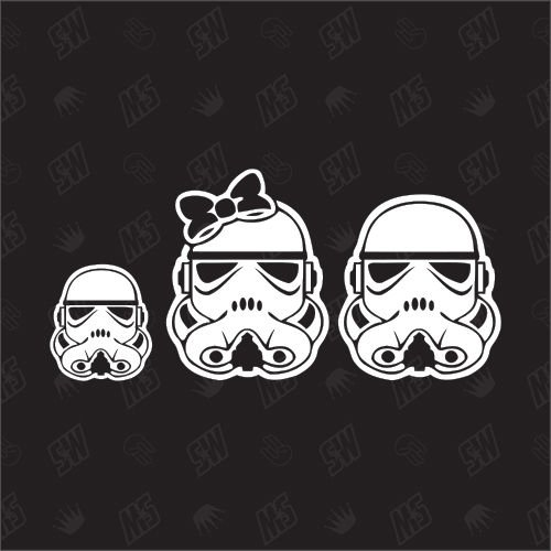 Star Wars Family with 1 boy - Sticker