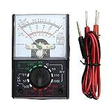 Cuigu - Mini multímetro digital analógico MF-110A AC/DC voltímetro, amperímetro, multímetro, multitímetro