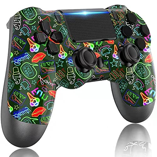 LITTJOY Controller for PS4, Wireless PS4 Controller, with Built-in 1000mAh Rechargeable Battery, Compatible with PS4/PS4 Slim/PS4 Pro Controller(Dark Green)