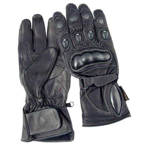 Roleff Racewear Lederhandschuhe, Schwarz, L