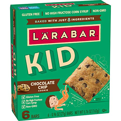 Larabar Kid Gluten Free Bar Chocolate Chip Cookie, 6 ct, 5.76 oz (Pack of 8)