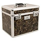 Imperial Riding Shiny Grooming Box One Size Black Marble Silver