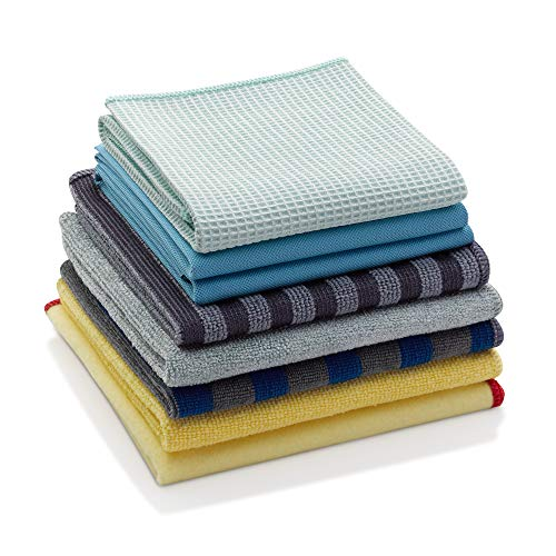 E-Cloth Conjunto de limpeza de microfibra para casa, pacote com 8, multicolorido, 8 unidades
