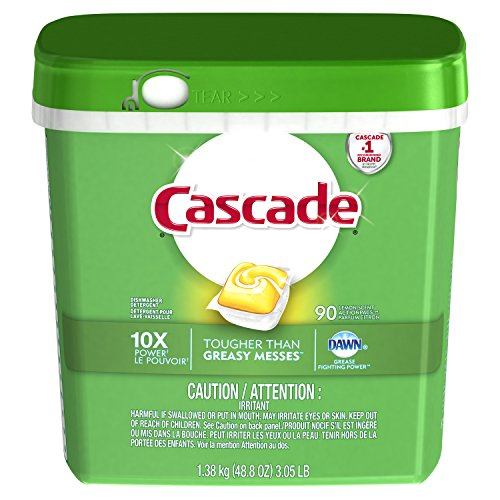 Cascade ActionPacs Dishwasher Detergent Soap, Original Scent, 60 Count (Packaging May Vary)