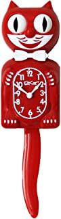 Kit-cat Klock Scarlet Red Cat Clock