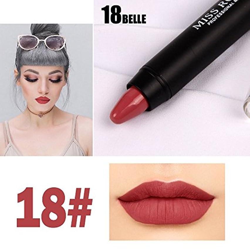 第三祝福ウォルターカニンガムMISS ROSE Professional Women Waterproof Lipstick Lips Cream Beauty Lote Batom Matte Lipstick Nude Pencils Makeup