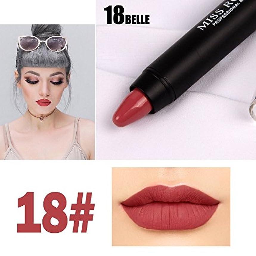デクリメントラックエッセンスMISS ROSE Professional Women Waterproof Lipstick Lips Cream Beauty Lote Batom Matte Lipstick Nude Pencils Makeup