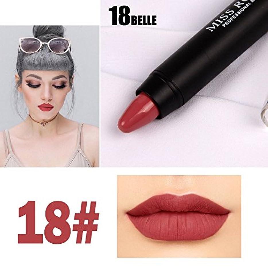 オープニングモート億MISS ROSE Professional Women Waterproof Lipstick Lips Cream Beauty Lote Batom Matte Lipstick Nude Pencils Makeup