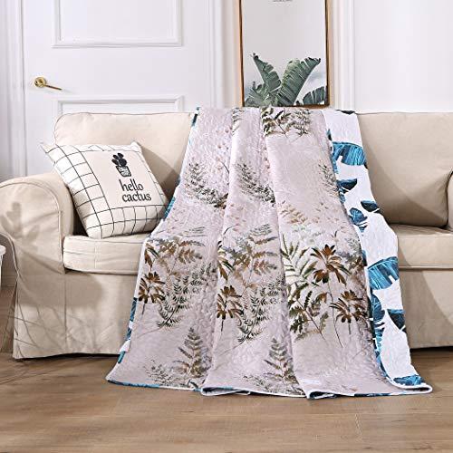 ENCOFT Tagesdecke Bettüberwurf Steppdecke Patchwork Bettdecke Doppelbett Wohzimmer Kinder Jungen (150 x 200 cm, Weiß 3)
