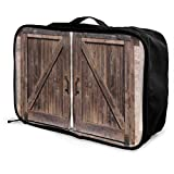 Bolsas de Maleta Wooden Barn Door In Stone Farmhouse Young Men and Women School Luggage Bag Lightweight Large Capacity Portable Holiday Travel Bags Tote Duffel Carry-on In Trolley Holiday