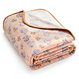 Extra Softness and Fluffy Lightweight Microplush Fleece Pet Blanket for Small, Medium and Large Dogs, Puppies, Cats and Kittens, Brown, 32 x 24 Inches