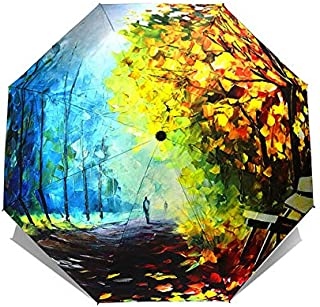 BEESCLOVER Art Umbrellas Female Van Painting Folding Umbrella Rain Women Windproof oub01 One Size