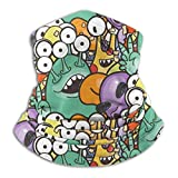 Ewtretr Cute Aliens and Monsters Neck Gaiter Warmer Hombres Mujeres Warm Windproof Ear Warmer Headband