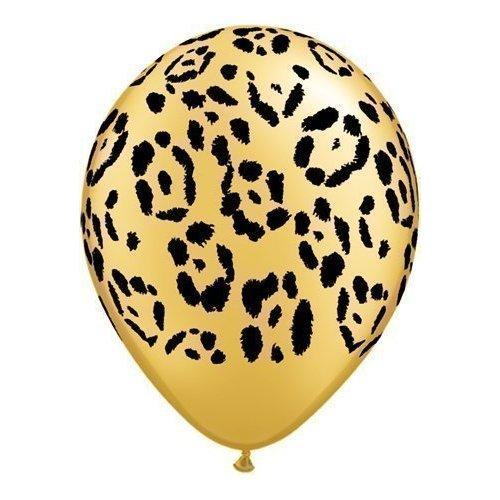 Safari Imprimé Animal Léopard Ballons x 5 - Qualatex 27.9cm