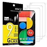 NEW'C 3 Stück, Schutzfolie Panzerglas für Google Pixel 4a 5G, Frei von Kratzern, 9H Festigkeit, HD Bildschirmschutzfolie, 0.33mm Ultra-klar, Ultrawiderstandsfähig