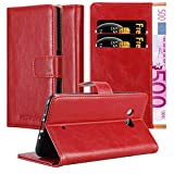 Cadorabo Book Case works with HTC Ocean / U11 in WINE RED