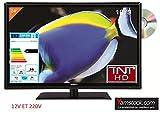 Télévision TV + DVD LED 23.6' HD 12V /220V Camping ca