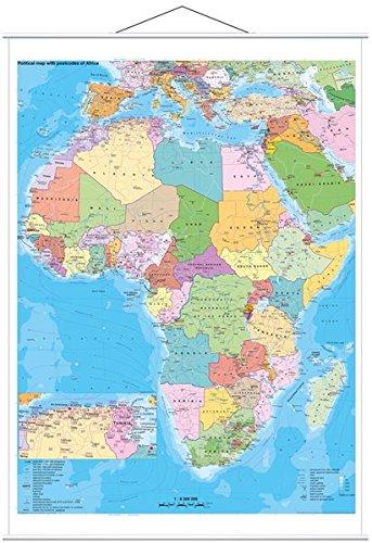 Afrika politisch mit Postleitbereiche
