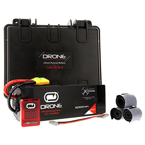 Venom 8000mAh 6S 22.2V Drone Professional High Capacity Battery, 15C LiPo with XT90-S Plug