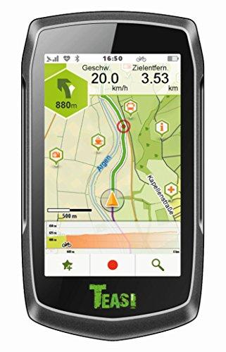Teasi One 3 GPS para Ciclistas y Excursionistas, Unisex, Negro, Talla única