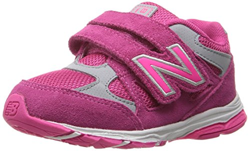 Product Image of the New Balance Kid's 888 V1 Running Shoe, Pink/Grey, 10.5 Medium US Little Kid
