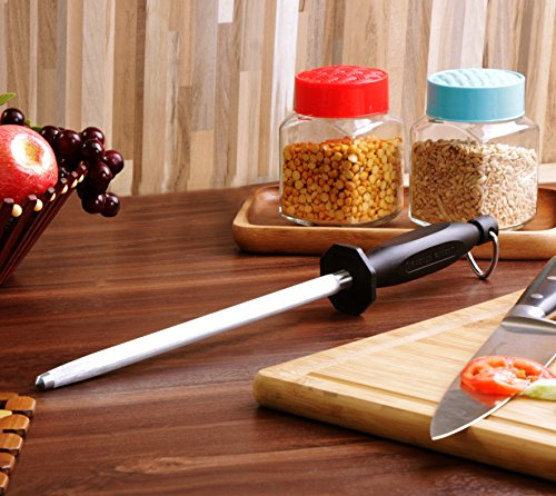 Utopia Kitchen 12 Inch Honing Steel Knife Sharpening Steel Sharpening Rod