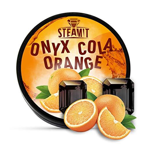 SteamIt Tabak Ersatz Dampfsteine - Shisha Steam Stones - nikotinfreier Tabakersatz für Wasserpfeifen (Cola Orange)