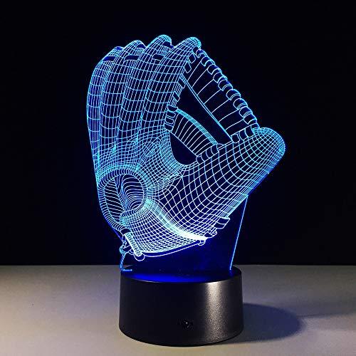 Toque Color luz de la Noche atmósfera lámpara Guante de béisbol decoración...