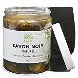 Savon Noir Marocain 300g, 100% Naturel, Exfoliant et Purifiant Pour le Corps et Visage Riche en Vitamine E, Nourrit Votre Peau En...