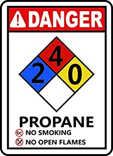 Edvoynlm Safety Alert Sticker Decals Safety Sign Vinly Decal NFPA Propane 2-4-0 Sign Danger Notice Warning Safe Sticker Lables for Indoor & Outdoor Use Waterproof (6