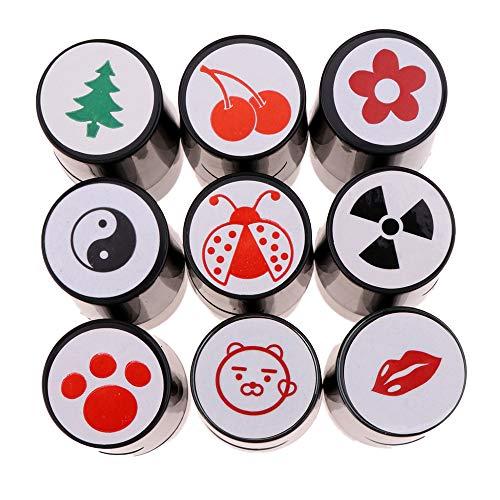 DAYOLY Golf Ball Stamper, Golf Ball Stamper Voetafdruk, Liefde-hart, Professionele Geen Fade Snelle Droge Kunststof Siliconen Stempel Seal voor Marker Print