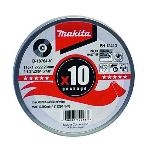Makita MAKD1876410 - Dischi da taglio, 115 mm, 10 pz.