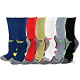 TeeHee Viscose from Bamboo Diabetic Sports Cushion Crew Socks 6-Pack (9-11, Basic)