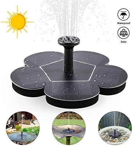 Solar vijverpompen Outdoor Solar Waterpomp Tuin Watering duikvermogen 4 spuitkoppen standaard bijgeleverd voor Bird Bath Fontein van de Tuin Kleine Vijver