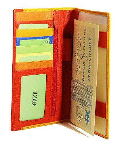 FANCIL Fancil , Unisex Scheckbuchhülle Mehrfarbig gelb