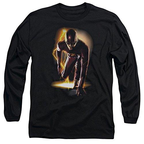 Flash - Prêt à manches longues Homme T-shirt, X-Large, Black