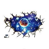 LAMEIDA Pegatina de Pared de vinilos Decorativos 3D Planeta Series...