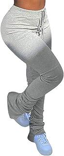Womens Stacked Leggings Pants, Ladies Casual High Waist...