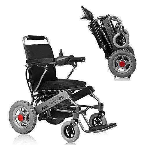 Yeeseu PowerChirl de plegamiento de la silla de ruedas eléctrica ultra portátil, 250W 24V 20Ah Pesos de batería de ion litio solo 33 lbs FGJ
