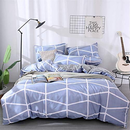 Bettwäsche-Set, Morbuy 3-teilig mit 1 Bettbezug + 2 Kissenbezüge Weiche Atmungsaktive Mikrofase Bedrucktes Bettbezug Schließung mit Reißverschluss (135x200+50x75cm,Brilliante Jahre)