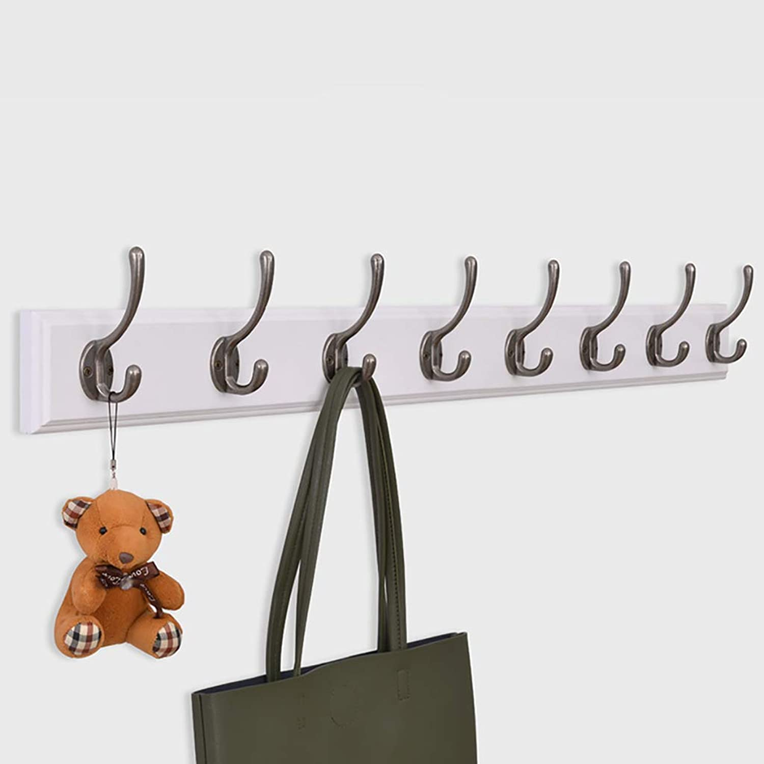 Coat Rack Wall-Mounted Coat Hook Hook Clothes Hook with Metal Hook White (Size   99.7  7.9cm)