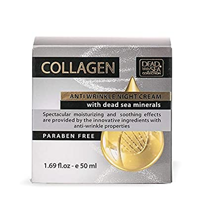 Dead Sea Collection Collagen Anti Wrinkle Night Cream with Dead Sea Minerals Stable Vitamin C 1.69 fl. oz by Dead Sea Collection