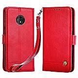 Suordii Motorola Moto Z3 Play Case, PU Leather Wallet Case