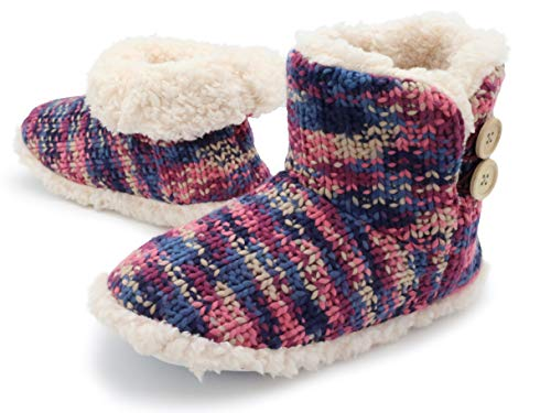Citycomfort Pantuflas Bota Mujer | Zapatillas Casa Bota Mujer Invierno Cerradas | Botas Pantuflas Mujer | Botines De Punto para Interiores