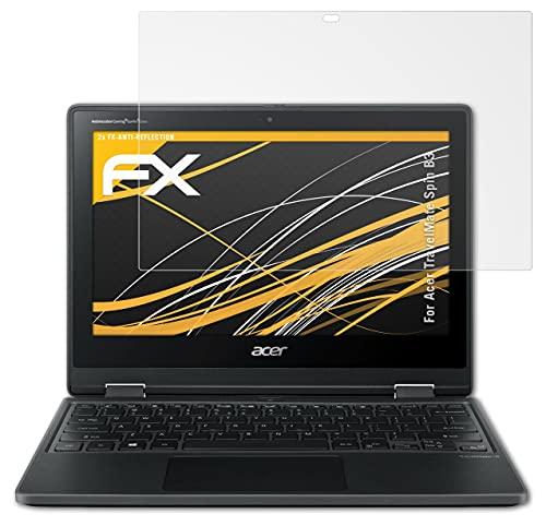 atFolix Panzerfolie kompatibel mit Acer TravelMate Spin B3 Schutzfolie, entspiegelnde & stoßdämpfende FX Folie (2X)