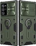 Nillkin CamShield Armor Hülle für Samsung Galaxy Note 20 Ultra Hülle mit Schiebekameraabdeckung, PC & TPU Silikon Cover stoßfeste Stoßstangen Schutzhülle mit Ringständer für Note 20 Ultra (Grün)