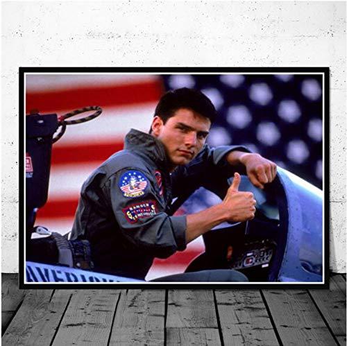 meilishop Top Gun Film 2020 Tom Cruise Film Bande Dessinée Affiches Et Impressions Peintures pour Salon Mur Décoration De La Maison Impression De Mode Affiche A614 (40X60Cm) sans Cadre